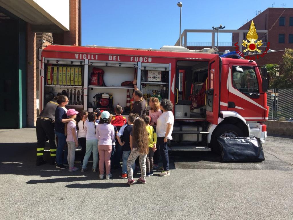 Ufficio Anagrafe A Prato : Bimbi delle elementari fanno visita ai vvf la ª a di prato al